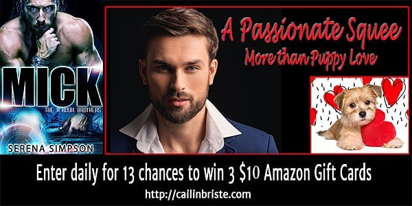 Serena Simpson's entry in a #PassionateSquee from Mick: the A'rouk Brothers. Visit & comment for an entry in the #giveaway #eroticromance