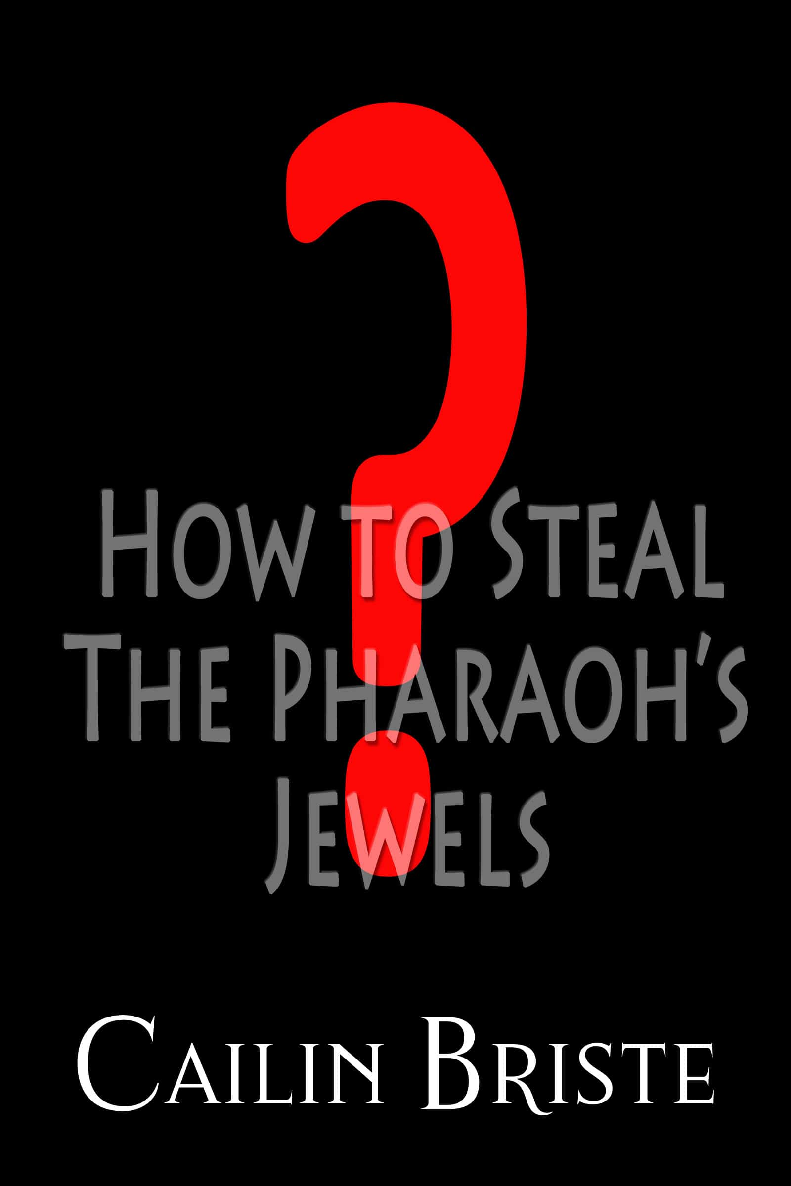 #2 in the A Thief in Love Suspense Romance series has its cover. How to Steal a Pharaoh's Jewels #CoverReveal #SciFiRom @CailinBriste